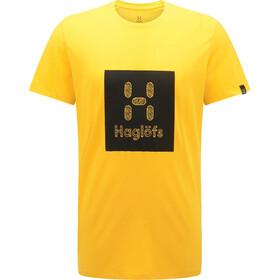 Haglöfs Träd Print Tee Men, pumpkin yellow